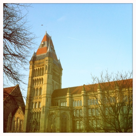 Nostalgic, soft-focus view of the University of Manchester // Image by Adam Byron